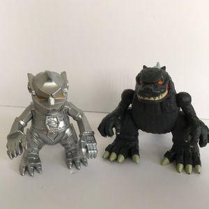 Godzilla And MechaGodzilla Distorted Two